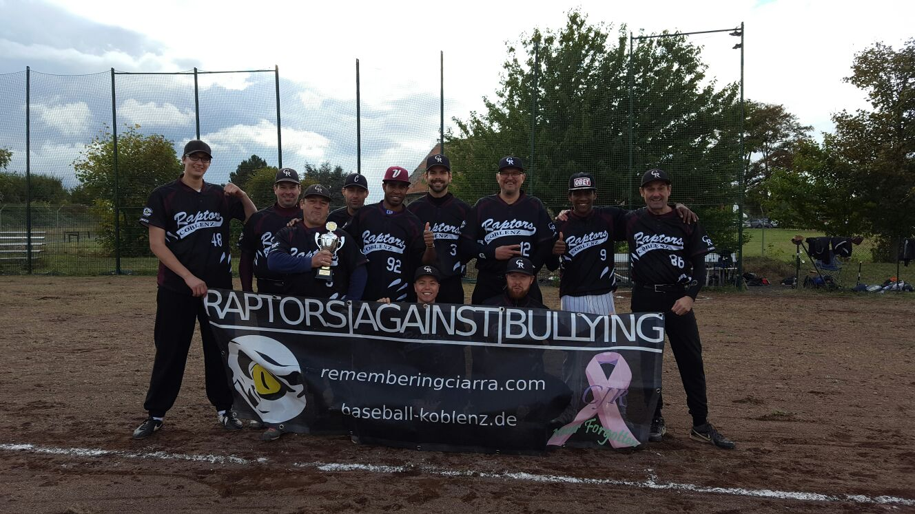 Raptors Baseball Team wird Vizemeister in der Three Rivers Baseball League