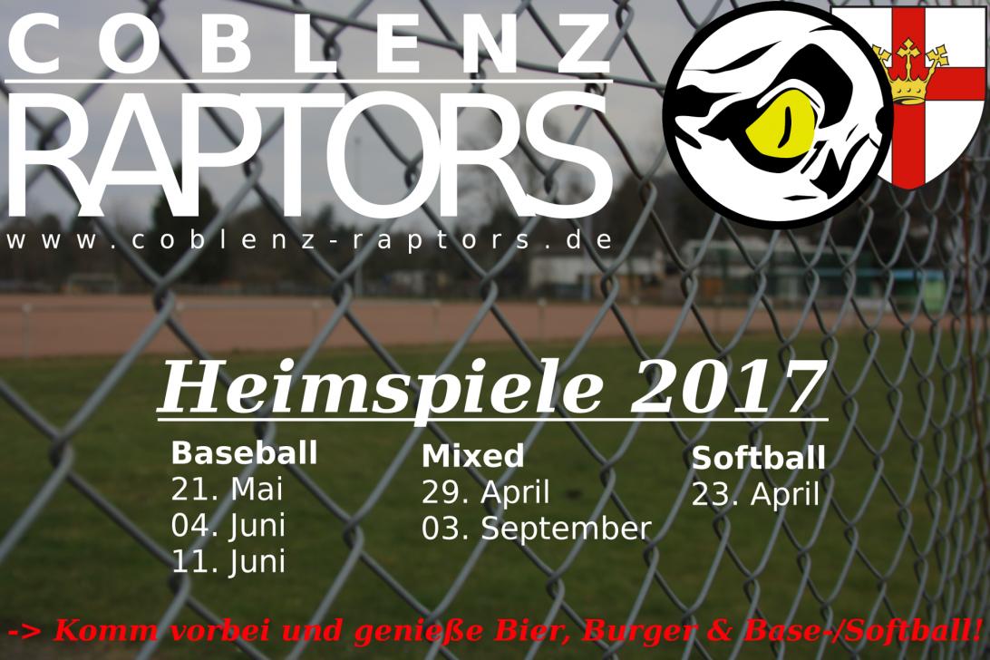 Heimspieltage 2017 – Baseball und Softball gegenüber vom Deutschen Eck